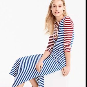 J. Crew Stripped Maxi Casual Dress Nautical